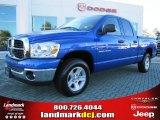2007 Electric Blue Pearl Dodge Ram 1500 SLT Quad Cab #37637769
