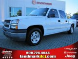 2005 Summit White Chevrolet Silverado 1500 LS Crew Cab #37637770