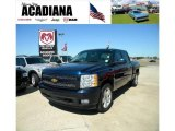 2008 Dark Blue Metallic Chevrolet Silverado 1500 LT Crew Cab #37637805