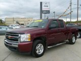 2009 Deep Ruby Red Metallic Chevrolet Silverado 1500 LT Extended Cab 4x4 #37637868