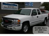2005 Summit White GMC Sierra 1500 Z71 Extended Cab 4x4 #37637870