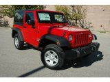 2011 Flame Red Jeep Wrangler Sport 4x4 #37638391