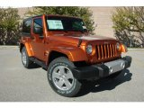 2011 Mango Tango Pearl Jeep Wrangler Sahara 4x4 #37638395