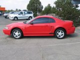 2002 Torch Red Ford Mustang V6 Coupe #37638408