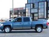 2007 Blue Granite Metallic Chevrolet Silverado 1500 LTZ Crew Cab 4x4 #37699835