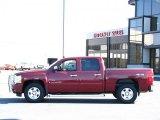 2008 Deep Ruby Metallic Chevrolet Silverado 1500 LT Crew Cab 4x4 #37699840