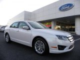 2011 White Platinum Tri-Coat Ford Fusion SEL V6 #37699373