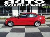 2003 Electric Red BMW 3 Series 325i Sedan #37699682