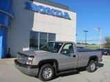 2005 Silver Birch Metallic Chevrolet Silverado 1500 LS Regular Cab 4x4 #37699105