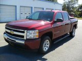 2009 Deep Ruby Red Metallic Chevrolet Silverado 1500 LS Crew Cab #37700019