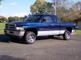 2001 Patriot Blue Pearl Dodge Ram 1500 SLT Club Cab 4x4 #37699510