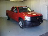 2007 Victory Red Chevrolet Silverado 1500 Work Truck Extended Cab #37699810
