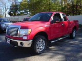 2010 Vermillion Red Ford F150 XLT SuperCab 4x4 #37699280