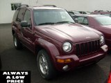 2002 Dark Garnet Red Pearlcoat Jeep Liberty Limited 4x4 #37776713