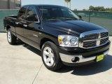 2008 Brilliant Black Crystal Pearl Dodge Ram 1500 Lone Star Edition Quad Cab #37777225