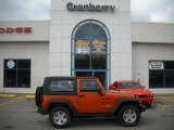 2010 Mango Tango Pearl Jeep Wrangler Sport 4x4 #37777076