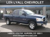 2007 Patriot Blue Pearl Dodge Ram 1500 SLT Quad Cab 4x4 #37777082