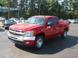 2011 Victory Red Chevrolet Silverado 1500 LT Extended Cab 4x4 #37777697