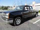 2004 Black Chevrolet Silverado 1500 LS Extended Cab 4x4 #37777460
