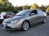 2007 Galaxy Gray Metallic Honda Civic Si Sedan #37776766