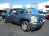 2011 Blue Granite Metallic Chevrolet Silverado 1500 LS Extended Cab 4x4 #37839518