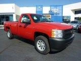 2011 Victory Red Chevrolet Silverado 1500 Regular Cab 4x4 #37839523