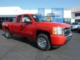 2011 Victory Red Chevrolet Silverado 1500 LS Extended Cab 4x4 #37839535