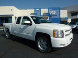2011 Summit White Chevrolet Silverado 1500 LT Extended Cab 4x4 #37839543