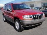2002 Inferno Red Tinted Pearlcoat Jeep Grand Cherokee Laredo 4x4 #37839755