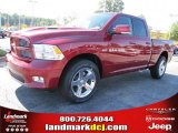 2011 Deep Cherry Red Crystal Pearl Dodge Ram 1500 Sport Quad Cab #37839480