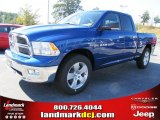 2011 Deep Water Blue Pearl Dodge Ram 1500 Big Horn Quad Cab #37839485
