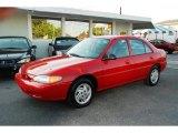 2001 Bright Red Ford Escort SE Sedan #37839692
