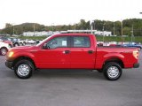 2010 Vermillion Red Ford F150 XL SuperCrew 4x4 #37776926