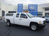 2008 Summit White Chevrolet Silverado 1500 Work Truck Extended Cab #37887548