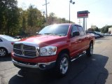 2007 Flame Red Dodge Ram 1500 SLT Quad Cab 4x4 #37887536