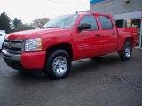 2010 Victory Red Chevrolet Silverado 1500 LS Crew Cab 4x4 #37896168