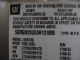 2003 Hummer H2 SUV Info Tag