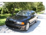 2001 Jet Black BMW 3 Series 325i Coupe #37896332