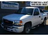 2005 Summit White GMC Sierra 1500 SLE Regular Cab 4x4 #37896334