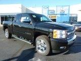 2011 Black Chevrolet Silverado 1500 LT Extended Cab 4x4 #37945888
