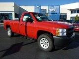 2011 Victory Red Chevrolet Silverado 1500 Regular Cab 4x4 #37945889
