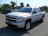 2010 Sheer Silver Metallic Chevrolet Silverado 1500 LT Crew Cab #37946372