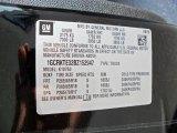 2011 Chevrolet Silverado 1500 LTZ Extended Cab 4x4 Info Tag