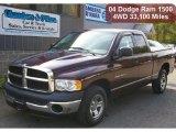 2004 Deep Molten Red Pearl Dodge Ram 1500 ST Quad Cab #37945943