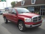 2007 Inferno Red Crystal Pearl Dodge Ram 1500 ST Quad Cab 4x4 #37945946