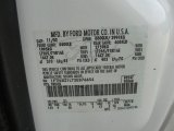 2003 F250 Super Duty Color Code for Oxford White - Color Code: Z1