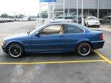 2001 Topaz Blue Metallic BMW 3 Series 330i Coupe #3796452