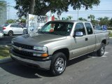 2002 Light Pewter Metallic Chevrolet Silverado 1500 LS Extended Cab 4x4 #37945770