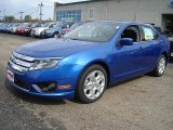 2011 Blue Flame Metallic Ford Fusion SE #37945795