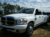 2007 Bright White Dodge Ram 3500 Big Horn Quad Cab Dually #38009815